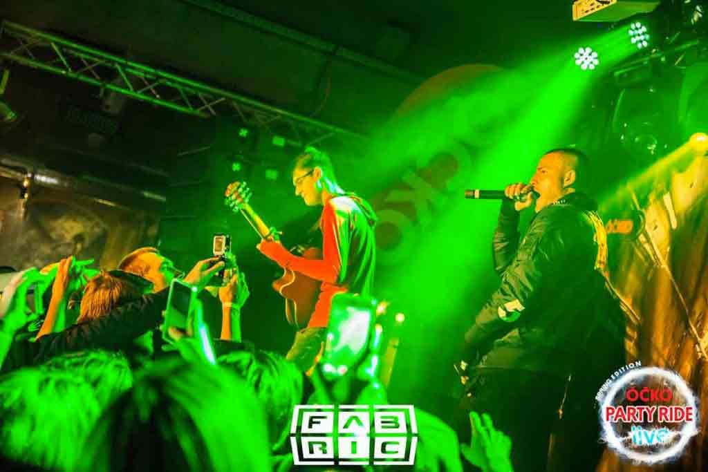 Peter Kravárik alias Homes na vystúpení s raperom Egom. Foto: Archív Peter Kravárik